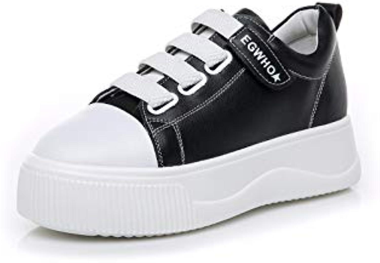 KPHY Scarpe da donna Le Scarpe Di Cuoio Cuoio Cuoio Pigro Scarpe Moda Sport Shock Assorbimento Wear-Resistant.bianca 39 | Consegna Immediata  ac2037