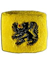 Digni® Poignet éponge avec drapeau Belgique Flandre, pack de 2