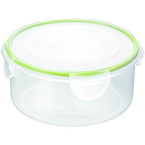 Tescoma Freshbox Mini Contenitori Tondi, Plastica, Trasparente/Verde, 3 Pezzi
