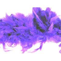 Boa di piume di marabù, dimensioni: 1,8 m x 12 cm, colore: viola