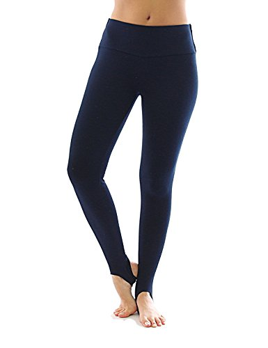 Thermo Polaire haute COULEUR avec barre legging coton pantalons leggings bleu foncé