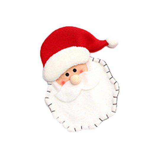 Preisvergleich Produktbild Yearnly Dekoration Kreative Home Party Gabel Set Hut Storage Tool Weihnachten Tasche Puppe dekorative Kranz Rattan Kreis Weihnachtsbaum Dekoration Anhänger Fenster Requisiten
