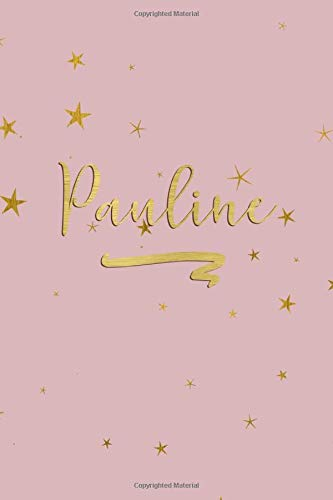 Pauline: Personalized Journal to Write In | Rose Gold Line Journal