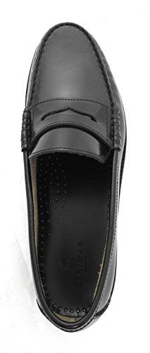 Zerimar Chaussure fabriqué en cuir de haute qualité avec le plancher en cuir Idéal pour habiller et cadres Couleur Noir Noir