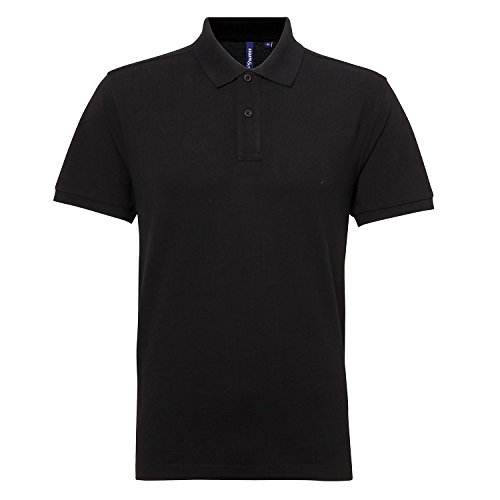 Asquith & Fox Herren Classic Fit Performance Blend Polo T-Shirt - 25 Farben erhä Holzkohle