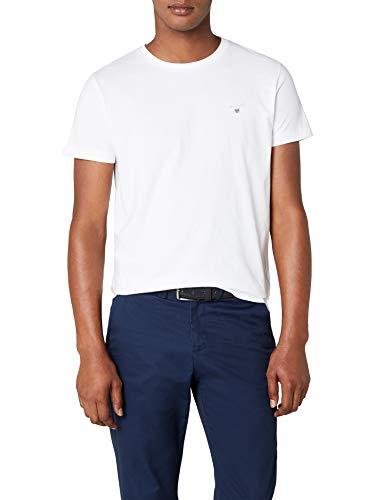 GANT Herren The ORIGINAL SOLID T-Shirt, Weiß (White 110), XXX-Large (Herstellergröße: XXXL)