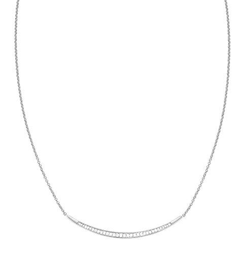 ESPRIT Damen-Kette mit Anhänger JW52886 Messing rhodiniert Zirkonia transparent 42 cm-ESNL03626A420