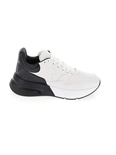 Alexander McQueen 553683WHRU39034 Herren Weiss/schwarz Leder Sneakers