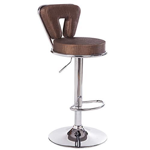 Hohe Rückenlehne Aus Bugholz Stuhl (Chunse Bar-Stuhl, Rezeption Kasse Hohen Hocker, Mit Rückenlehne Stuhl, Home Karaoke Drehstuhl,H)