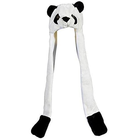 Plush Panda Hat Novelty Cap Animal Costume Beanie With Long Paws by Rhode Island Novelty - Rhode Island Costume