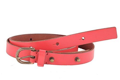 Timberland Donna Vera Pelle Cintura Gr. M, 85 cm (85 cm, Rosso)