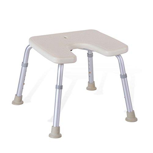 MyAou-Shower Chair Duschstuhl U-Typ Badehocker Höhenverstellbarer Badezimmerhocker Älterer Duschhocker