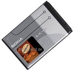 Nokia Ersatzakku BL-4C für NOKIA 2650 / 2652 / 5100 / 6100 / 6101 / 6103 / 6125 / 6131 / 6136 / 6170 / 6260 / 6300 / 7200 - Nokia 6101 6103