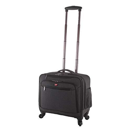 Von Cronshagen Trolley Pilotenkoffer/Businesstasche mit 4X 360° Rollen, Laptopfach für Notebooks bis 17 Zoll, aus wasserabweisendem und strapazierfähigem 600D Polyester