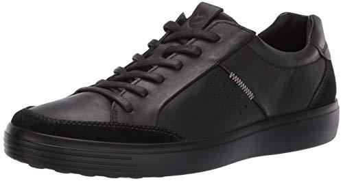 Ecco Herren Soft 7 Men's Sneaker, Schwarz (Black 51052), 40 EU Schuhe 7