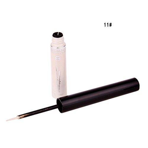 12shage Make Up Werkzeug Lidschatten Frauen Wasserdichtes Glänzendes Flüssiges Eyeliner (K)
