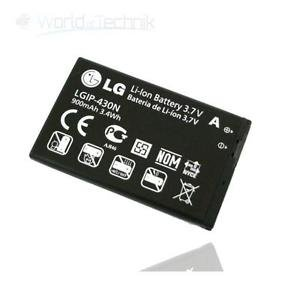 ORIGINAL Akku accu Batterie battery für LG GM360, GS290 Cookie Fresh, GW300 KP260, TP200, GW330, GS29 - Li-Ionen - (LGIP-430N)