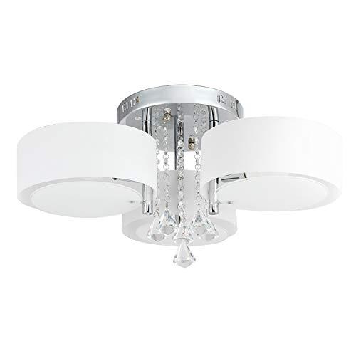 3-licht-acryl (LeMeiZhiJia 21W LED Acryl Deckenleuchte E27 Warmweiß - Kristall Deckenlampe 10W RGB Licht mit Fernbedienung - für Wohnzimmer, Esszimmer (3-flammig))