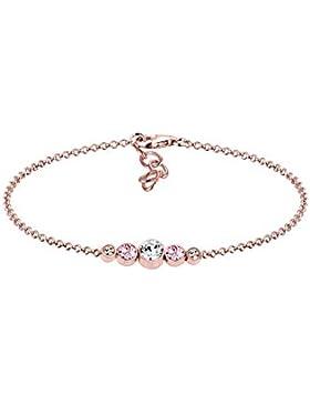 Elli Damen-Armband 925 Silber weiß Rundschliff Swarovski Kristalle 16 cm 0201922617_16