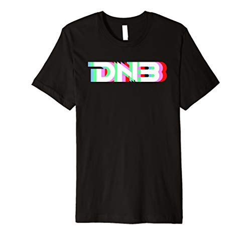Cool Drum & Bass Anaglyph Rave T-Shirt - DNB Raving Tee