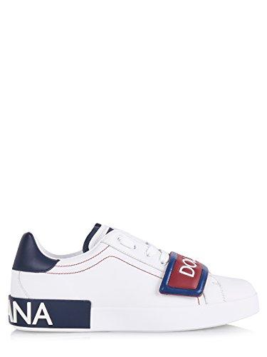 Dolce & Gabbana Schuhe (M-01-Sc-54229) - 43(DE)/43(IT)/43(EU) - Weiss (Gabbana & Sneakers Leder Dolce)