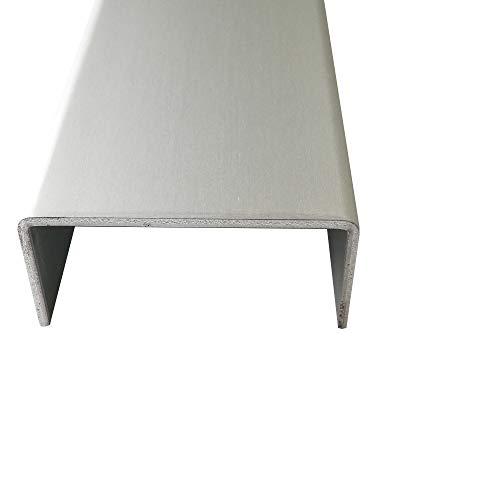 U-Profil Aluminium eloxiert 2,0 mm stark U-Profile Aluminium Natur Eloxiert Abdeckprofile Alu 2000mm Abdeckleisten 2 Meter (15x45x15 mm)