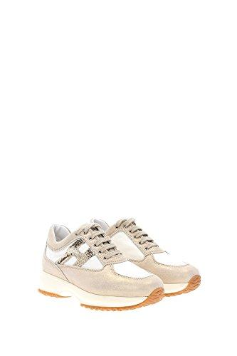 HXC00N0418186Y4085 Hogan Sneakers Bambino Camoscio Oro Oro