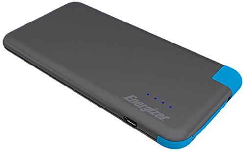 Energizer 4000mAh slim Powerbank externer Akku mit abnehmbaren Micro-USB Kabel für Samsung Galaxy S7 und viele weitere Geräte - grau/blau Energizer Portable Power