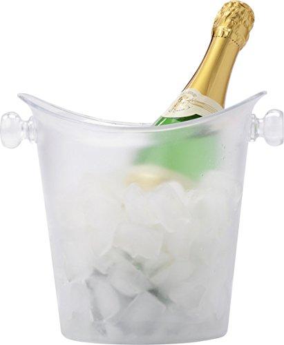 Weinkühler 25 x 22 x 22 cm Flaschenkühler für 1L Sektkühler Frosty Getränkekühler Eiseimer als...