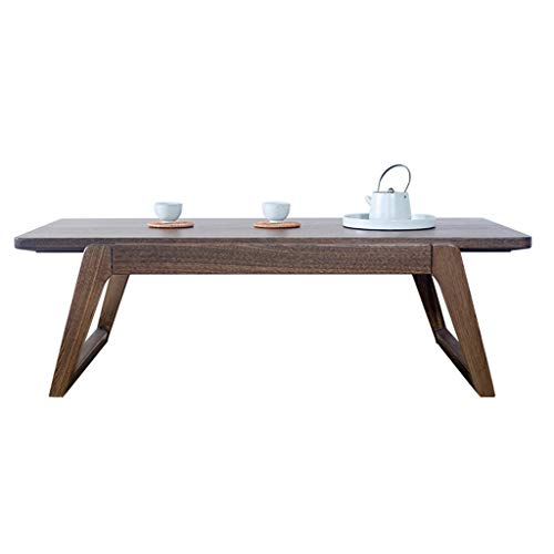 Tables basses Petite Table Table Basse Table D'appoint en Orme Table en Bois Massif Simple Table D'ordinateur Paresseux Plateforme en Tatami Table De Baie Vitrée Maison