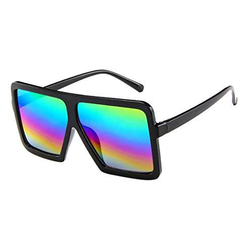 iCerber sonnenbrillen Chic Lässig Einzigartig Frauen Männer Vintage Retro Brille Unisex Big Frame Sonnenbrille Eyewear UV 400 ❀❀2019 Neu❀❀(Mehrfarbig)