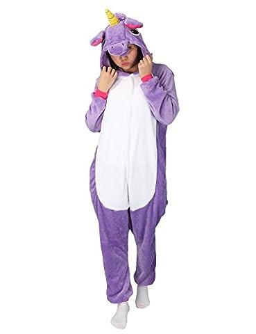 Tier Karton Kostüm Einhorn PyjamaTierkostüme Jumpsuit Erwachsene Schlafanzug Unisex Cosplay (Jumpsuit Kostüm)