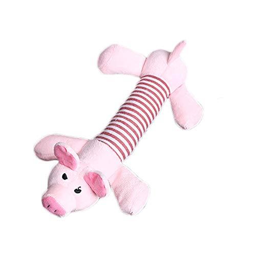 Foluton Pet Quietsche Spielzeug Plüsch süße Hund Plüsch Spielzeug langlebig Füllung Lange Streifen Hund Spielzeug Quietsche Elefant Pig Ente Haustier Spielzeug für Pet Shop Pet Party Home (Größe Leben Gefüllte Elefant)