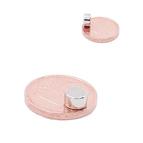 Brudazon | 25 Mini Scheiben-Magnete 5x3mm | N52 stärkste Stufe - Neodym-Magnete ultrastark | Power-Magnet für Modellbau, Foto, Whiteboard, Pinnwand, Kühlschrank, Basteln | Magnetscheibe extra stark -