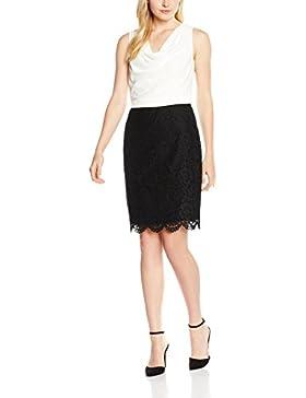 ESPRIT Collection Damen Kleid 056eo1e026-schmeichelnder Wasserfall-ausschnitt