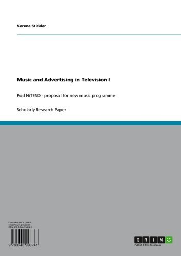 Music and Advertising in Television I: Pod NiTES© - proposal for new music programme (English Edition)