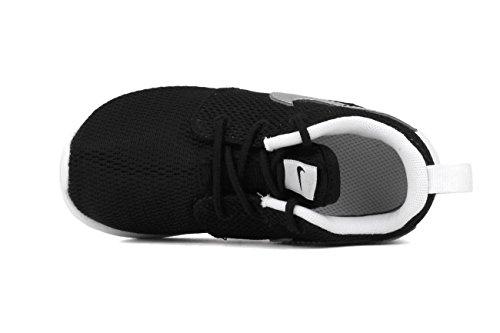 Nike Rosh Run Blue Youths Trainers Black/Metallic Silver-White-White