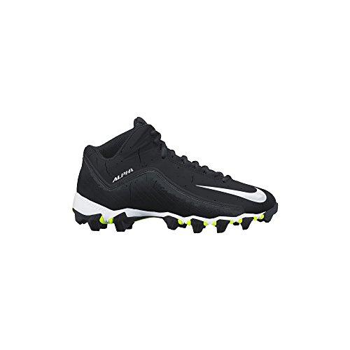Nike Men\'s Alpha Shark 2 Three-Quarter Football Cleat Black/Anthracite/White Size 14 M US