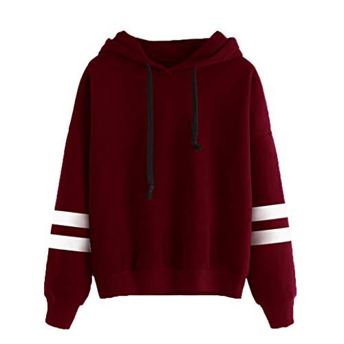 e Sweatshirt Frauen Herbst Freizeit Patchwork Langarmshirt Kapuzenpulli Hoodie Locker Pullover Bauchfrei Kapuzenpullover Bluse Tops Streetwear ()