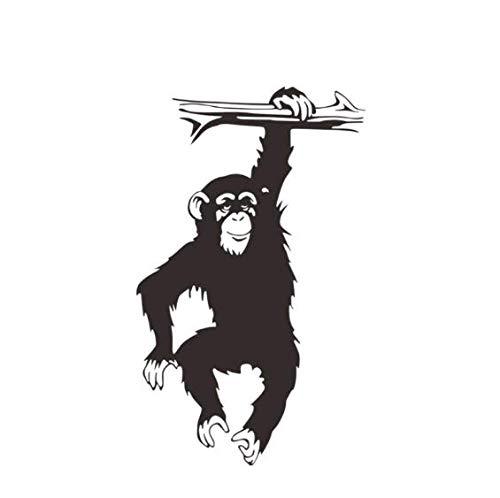 Gorilla Monkey Wandaufkleber PVC Selbstklebend Wohnzimmer Schlafzimmer Hintergrund Wanddekor 34 * 56 cm (Gorilla-anzug Für Kinder)