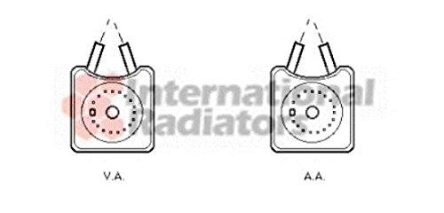 VAN WEZEL 58003215 Ölkühler, Motoröl (Audi ölkühler)