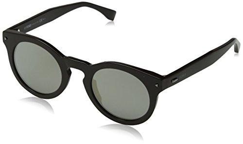Fendi ff 0214/s ue 09q, occhiali da sole uomo, marrone (brown/grey ivory sp), 48