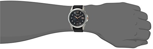 Seiko Men's Quartz Stainless Steel and Leather Casual Watch, Color Black (Model: SNE427)