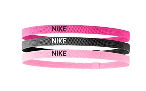 Nike Elastic Hairbands 3 Pack spark pink/gridiron/prism pink