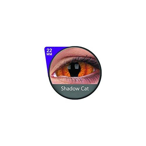 1 Paar Sclera SHADOWCAT Kontaktlinsen linsen farbige rot orange katzenaugen schlange drache vampir sklera mit Box dämon halloween kostüme ()
