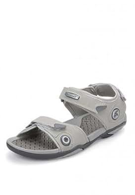 Wave Walk Men's Faux leather Grey Sandals -6