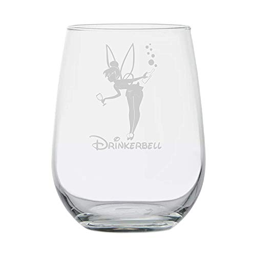 Fairy Gifts  Drinkerbell  Disney Wine Glass  Funny Birthday Gifts  Movie Themed  Couples Gifts...