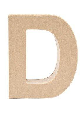 Rico Pappmache Buchstabe 'D' stehend zum basteln kreativ Design Idee (Basteln Buchstaben D)