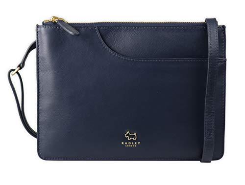 RADLEY London Damen Tasche Umhängetasche Pockets Leder blau Blue Navy 10023, Größe ca.: 25 x 18 x 4 cm (L x B X T)