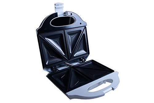 Evertoast Sandwichtoaster Sandwichmaker mit Antihaftbeschichtung, Toaster mit 800 W Leistung, Sandwich und Toastmaker,  weiss